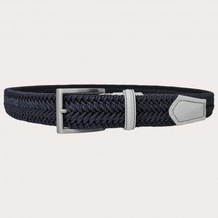 Cintura elastica intecciata blu navy