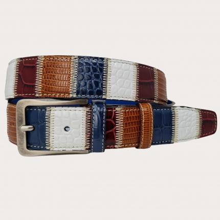 Cintura patchwork in vera pelle