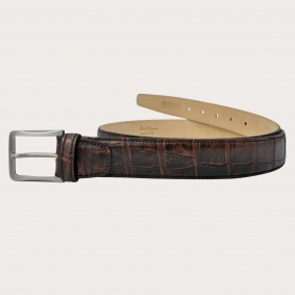 Brucle Cintura in alligatore, bordeaux vintage