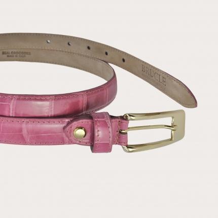 Brucle Cintura donna in coccodrillo rosa
