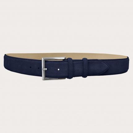 Brucle cintura alta scamosciata blu