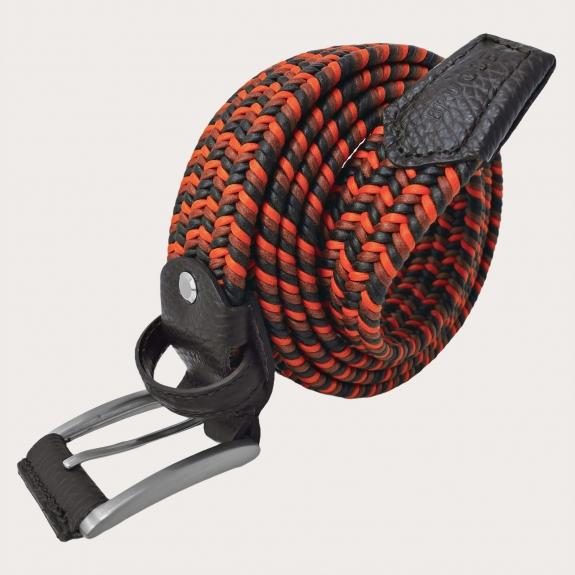 Brucle braided elastic belt orange brown
