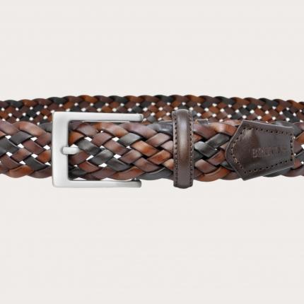 Brucle braided belt dark brown nickel free