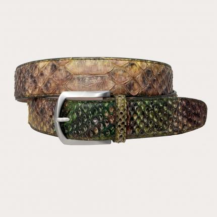 Brucle gürtel Real Python Leder 4 cm braun