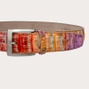 Brucle python multicolor belt made in italy