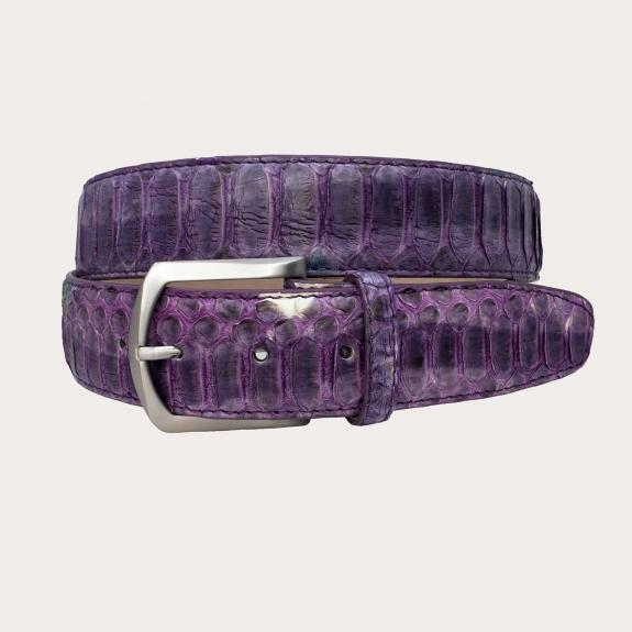 Brucle ceinture hute en cuir véritable Python, violet, sans nickel