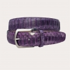Brucle high belt in real python, wisteria purple shades