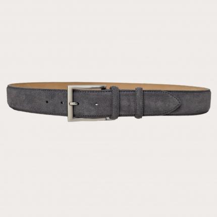 Brucle Cintura alta scamosciata grigio piombo
