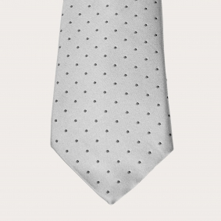 Brucle silk tie dot grey