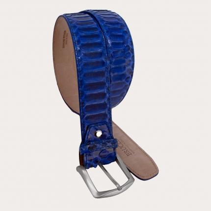 Brucle cintura alta in vero pitone blu nichel free