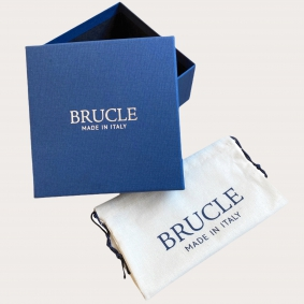 Brucle python leather belt blue nickel free