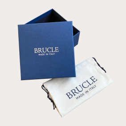 Brucle gürtel Real Python Leder 4 cm hellblau