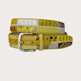 Brucle python leather yellow