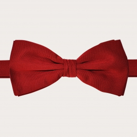 Brucle Silk Pre-tied Bow Tie red made in italy
