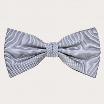 Silk Pre-tied Bow Tie dark grey