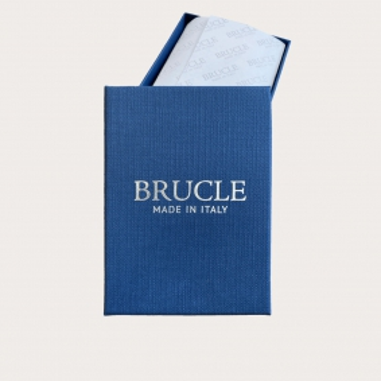 BRUCLE Papillon in seta blu navy, fantasia puntaspillo