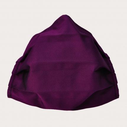 Masque filtrant grand public en soie violette