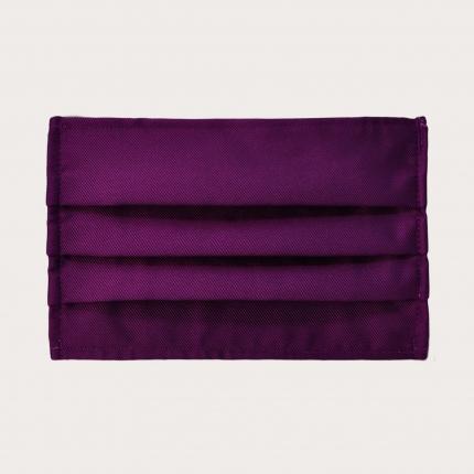 Wiederverwendbare stoffmaske seiden, Violett