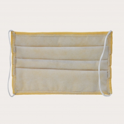 Fashion protective fabric mask, color yellow