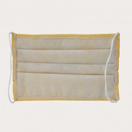 Masque filtrant jaune en soie, réutilisables