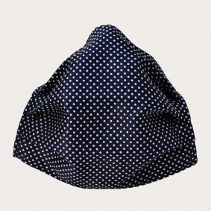 Fashion protective fabric mask, silk, blue dot