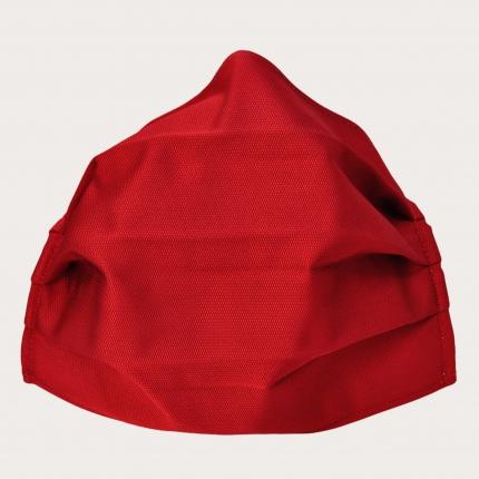 Schutzmaske rot seide