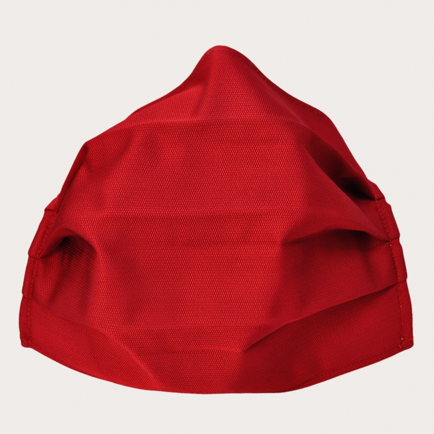 Fashion protective fabric mask, color red