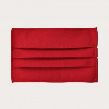 Masque filtrant rouge en soie, réutilisables