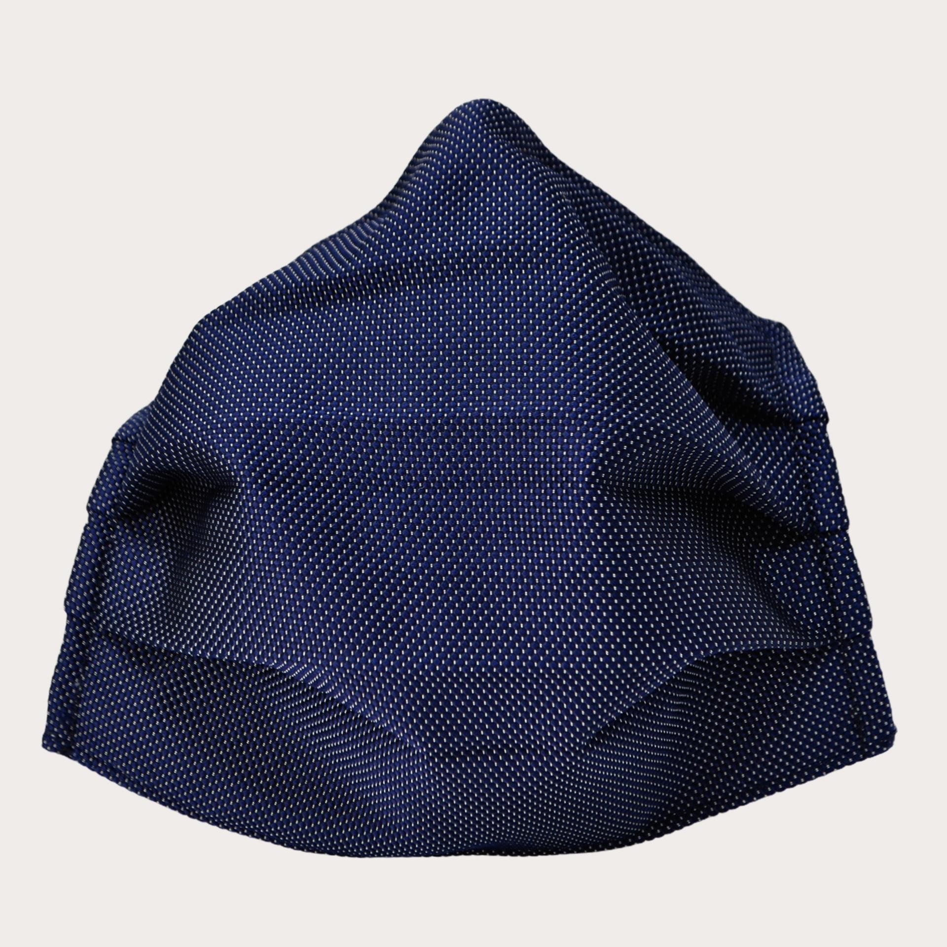 fabric mask washable dot blue stylemask