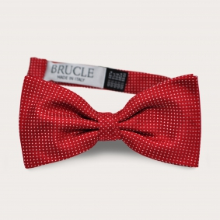 Red dot Silk Pre-tied Bow tie