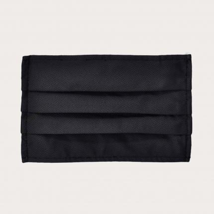 StyleMask Mascherina facciale filtrante nera in seta