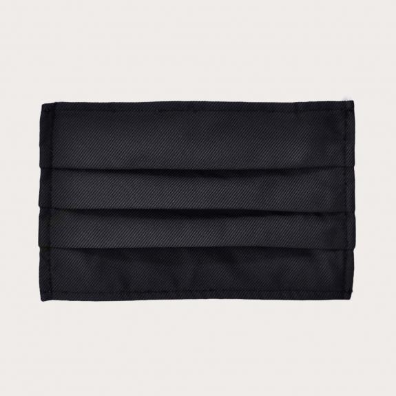 Fashion protective fabric mask, black