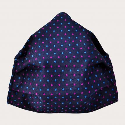Wiederverwendbare stoffmaske seiden, multicolor blau Motiv