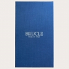 BRUCLE Formal Y-shape suspenders with braid runners, blue with wave pattern