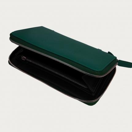 Portadocumenti portafoglio e organizer saffiano verde