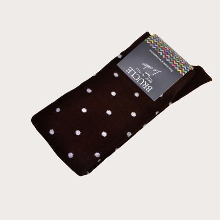 Chaussettes d'hiver marron à pois