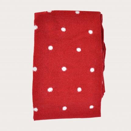 BRUCLE Chaussettes d'été rouges à pois blancs