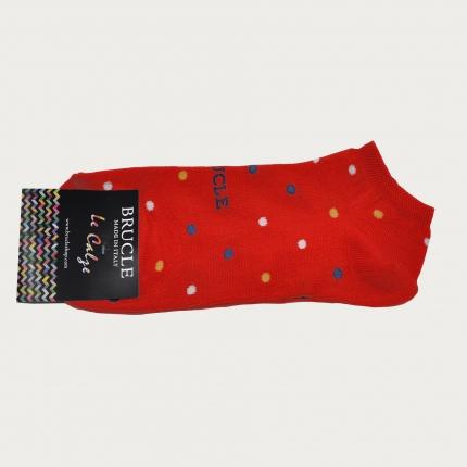 BRUCLE Socquettes à pois, rouge