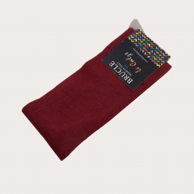 BRUCLE Summer socks with contrasting heel and toe, burgundy