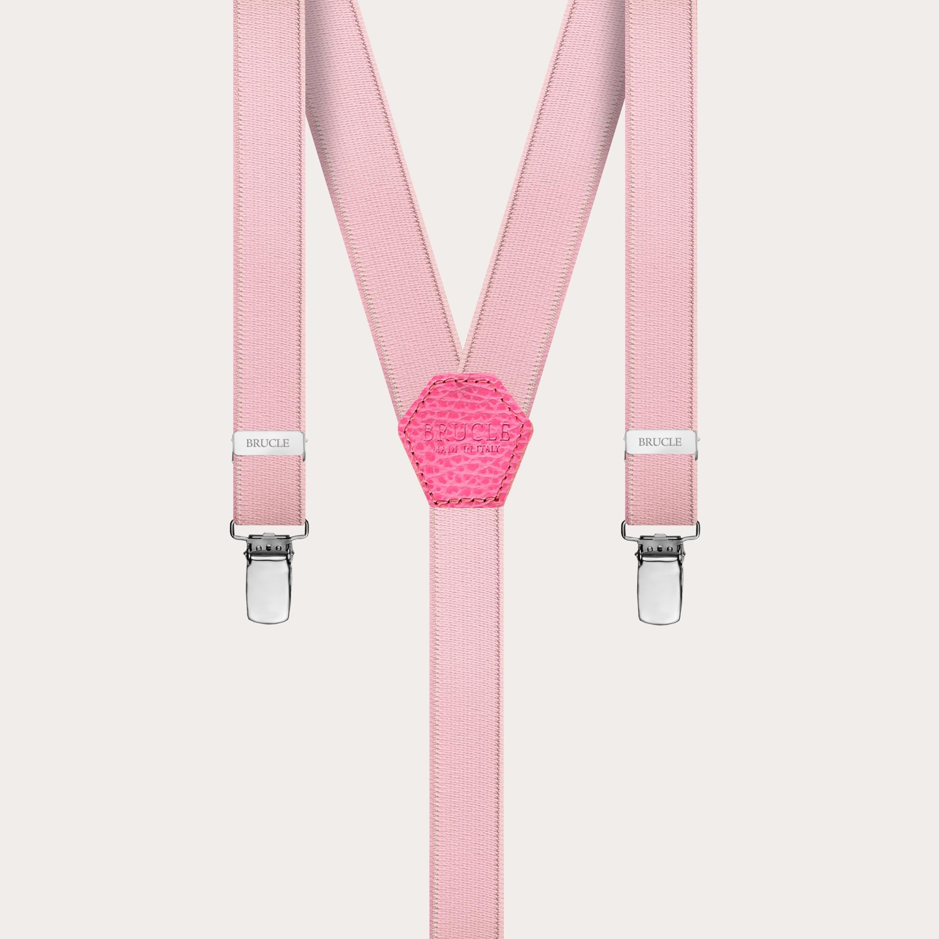 18mm Y-form braces suspenders pink