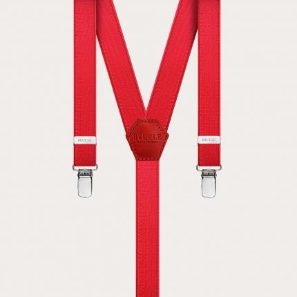 Bretelles extra fines rouge