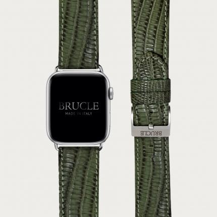 Brucle Armband kompatibel mit Apple Watch / Samsung Smartwatch, dunkelbraun