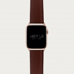 """Leather Watch band compatible with Apple Watch / Samsung smartwatch, brown """"inglese"""""""