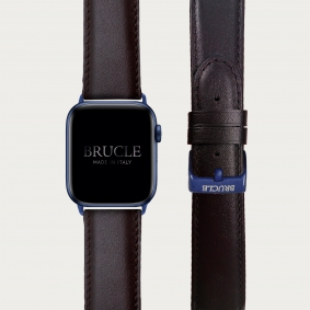 Leather Watch band compatible with Apple Watch / Samsung smartwatch, brown
