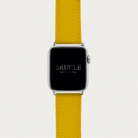 Leather Watch band compatible with Apple Watch / Samsung smartwatch, yellow dollar print