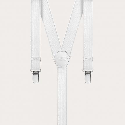 Braces suspenders kids white