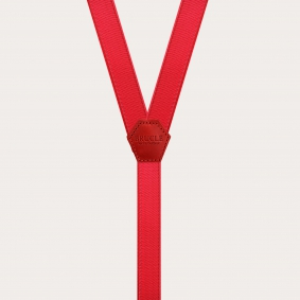 Satin Elastic Braces suspenders kids red