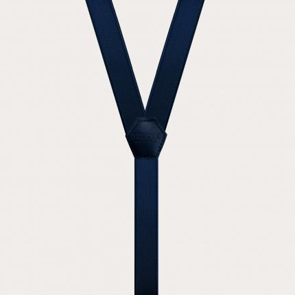 Schmale Hosenträger für Kinder blau