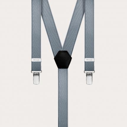 Hosenträger schmale grau Y-form