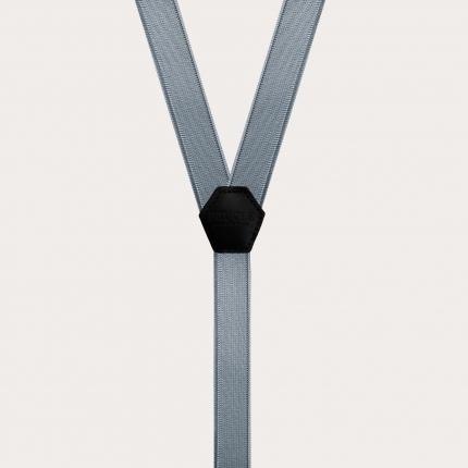 Bretelles extra fines gris foncé